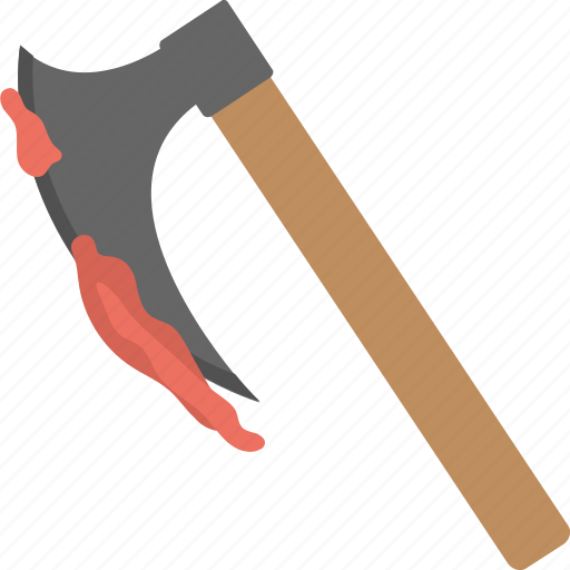 axe with blood, bloody axe, death symbol, halloween axe, killer axe icon