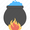 cauldron, halloween cauldron, halloween cookpot, halloween potion, witch cauldron icon