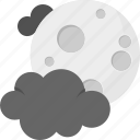 cold night, darkness, moon clouds, nightfall, nighttime icon