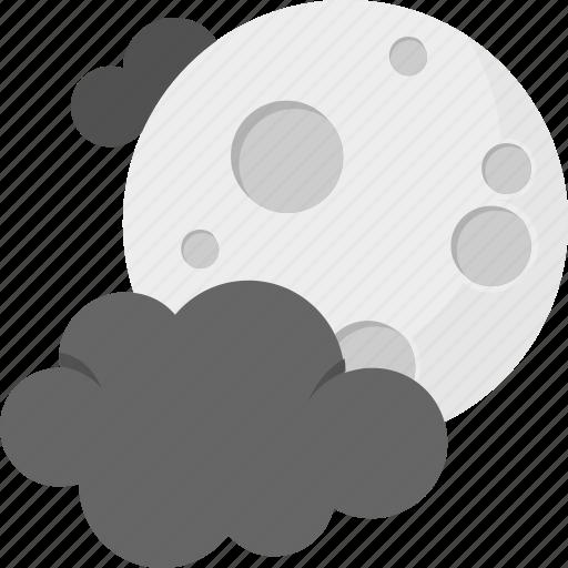 cold night, darkness, moon clouds, nightfall, nighttime icon