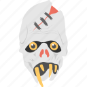 evil mask, halloween mask, scary face, skoopy face, zombie face icon