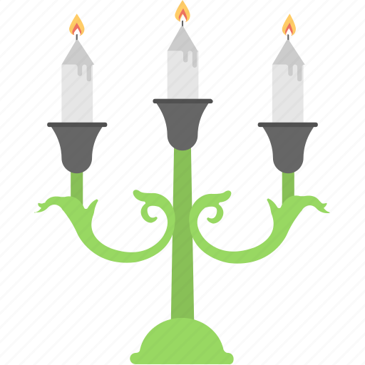 candle stand, candles, halloween celebration, halloween party, melting candles icon