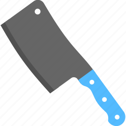 butcher knife, cleaver, cutting weapon, halloween accessory, meat cleaver icon