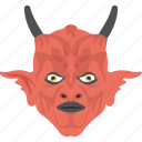 demon character, evil mask, evil satan, halloween accessory, lucifer mask icon