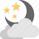 cloudy night, cold night, darkness, halloween night, nightfall, nighttime icon