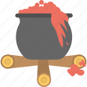 halloween cauldron, halloween cooking pot, halloween cookpot, halloween pot, scary bloody cauldron icon