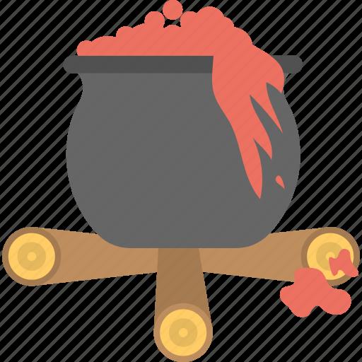 halloween cauldron, halloween cooking pot, halloween cookpot, halloween pot, scary bloody cauldron icon