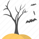 dead tree, halloween concept, halloween decoration, halloween tree, horrible scene icon
