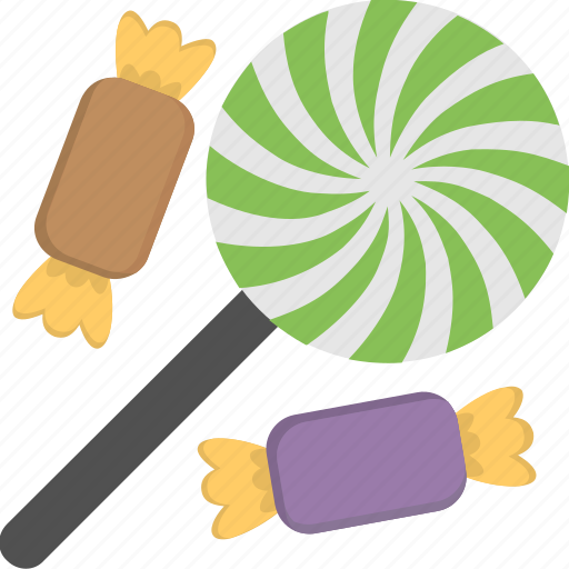 candy swirl lollipop, confectionery lolly stick, halloween candies, lollipop and candy, sweet snack icon