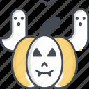 pumpkin, ghost, horror, halloween