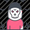 death, grim reaper, ghost, skull, halloween