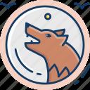 werewolf, animal, monster, beast icon