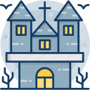 house, castle, haunted, ghost, halloween