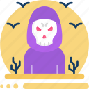 grim reaper, halloween, death, skull, ghost