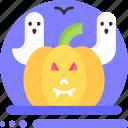 halloween, ghost, pumpkin, horror