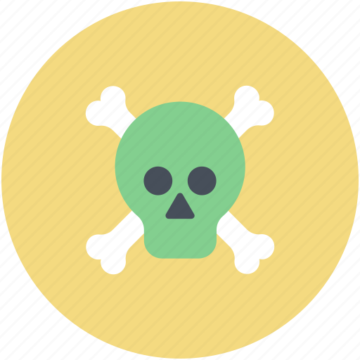 danger, dead, skull, skull and crossbones, toxic icon