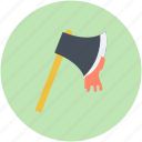 bloody axe, evil, halloween axe, horror, killer axe icon