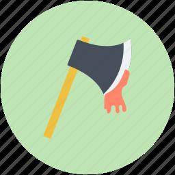 bloody axe, evil, halloween axe, horror, killer axe icon