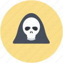 dreadful, evil, halloween skull, scary evil ghost icon