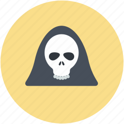 dreadful, evil, halloween skull, scary evil ghost icon