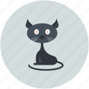 black cat, black evil cat, cat, evil cat, scary icon