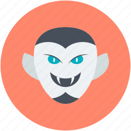 dracula, halloween, monster, undead, vampire face icon