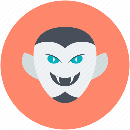 Dracula, halloween, monster, undead, vampire face icon - Download on Iconfinder