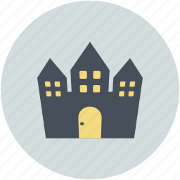 halloween horror castle, halloween mansion, haunted house, horror castle icon