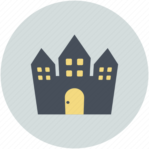 Halloween horror castle, halloween mansion, haunted house, horror castle icon - Download on Iconfinder