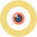dreadful, halloween eyeball, halloween target, horrible, scary icon