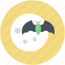 bat, dreadful, evil bat, halloween bat, scary icon