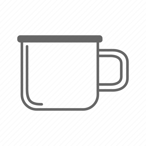 coffee, cup, drink, enamel, mug, tea icon