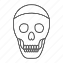 danger, dead, death, evil, horror, skeleton, skull icon