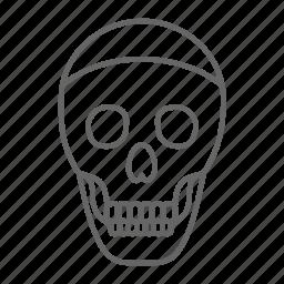 danger, dead, death, evil, horror, skeleton, skull icon