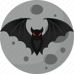 bat, fear, halloween, horror, moon icon