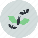 bats, dreadful, evil bats, halloween bats, scary icon