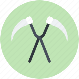 costumes accessory, frighten, halloween costumes accessory, halloween scythes icon