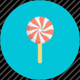 confectionery, lollipop, lolly, sweet snack, swirl lollipop icon
