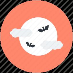 bats, dreadful, evil bats, halloween bats, scary icon