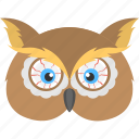 halloween masquerade, halloween owl, horrible owl, horror bird, owl mask, scary character icon