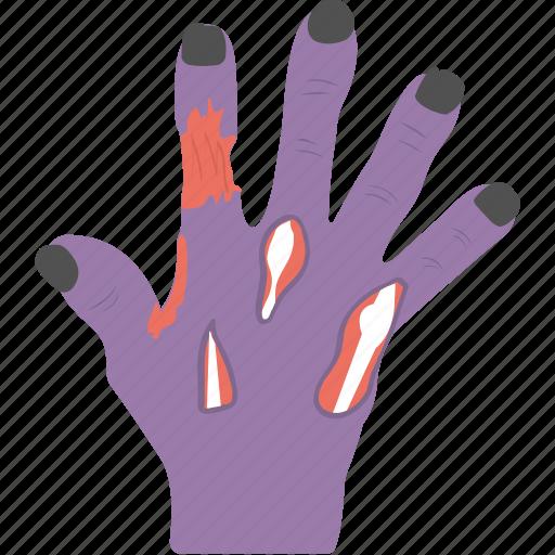 evil hand, ghost hand, halloween accessory, halloween celebration, zombie hand icon