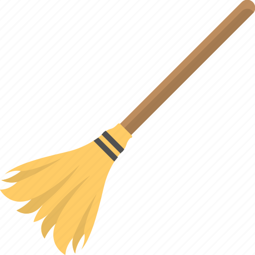 broomstick, brush, halloween besom, halloween broom, mop icon