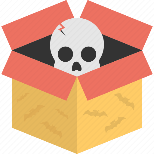carnevil haunt, halloween props, scary box, scary decor, skull box icon