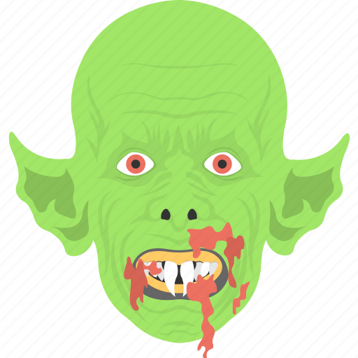 halloween ghost, horror object, monster face, scary mask, spooky element icon