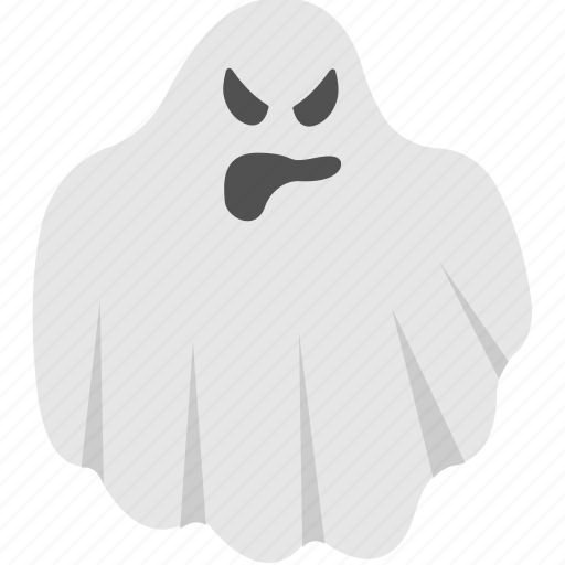 angry ghost, evil spirit, halloween accessory, scary evil ghost, spooky costume icon