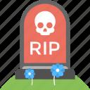 grave headstone, gravestone, halloween tombstone, tombstone icon