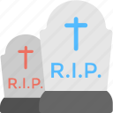 graveyard, halloween element, halloween tombstones, horror night, scary graveyard icon