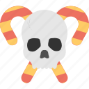 frightening festival, halloween celebration, halloween event, halloween party, spooky cranium icon