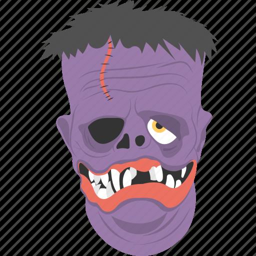 costume accessory, creepy mask, horrible face, spooky, terrific object icon