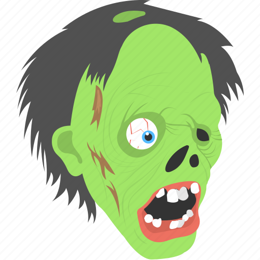 evil mask, halloween celebration, halloween object, spooky face, zombie mask icon